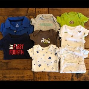 Bundle of 8 NB onesies